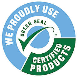 We Proudly Use Green Seal Products